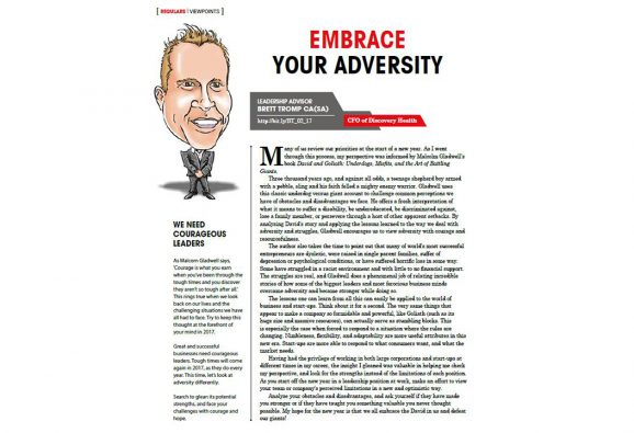 Monthly column on leadership in business in the industry journal, Accounting SA