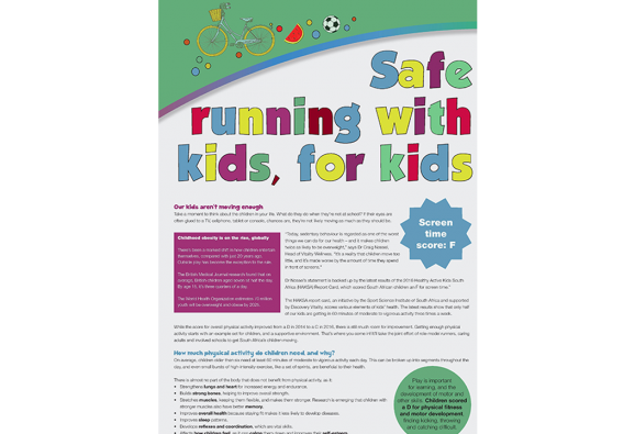 Feature in Modern Athlete about safe running for kids